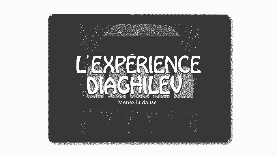 Introduction image to the Expérience Diaghilev project (tablet with the splashscreen of the app)